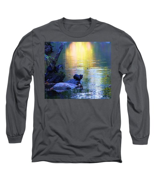 Otter Family Long Sleeve T-Shirt by Dan Sproul