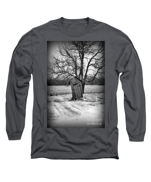 Outhouse In The Snow Long Sleeve T-Shirt