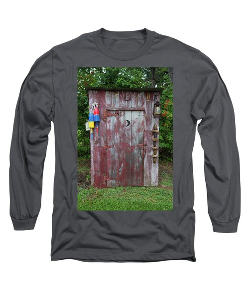 Outhouse Shed In A Garden, Marion Long Sleeve T-Shirt