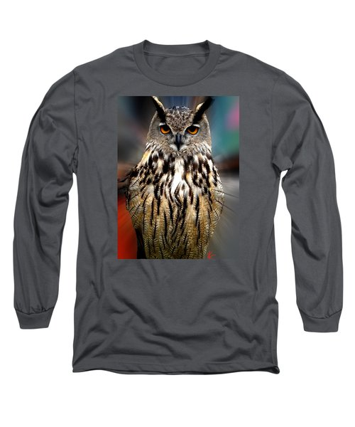 Long Sleeve T-Shirt featuring the photograph Owl Living In The Spanish Mountains by Colette V Hera  Guggenheim