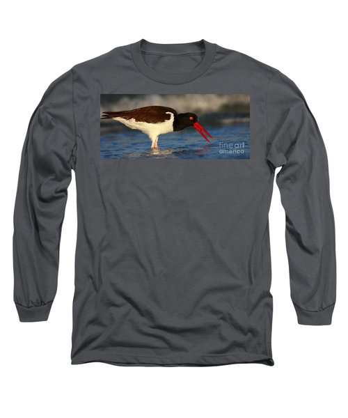 Oystercatcher In Surf Long Sleeve T-Shirt