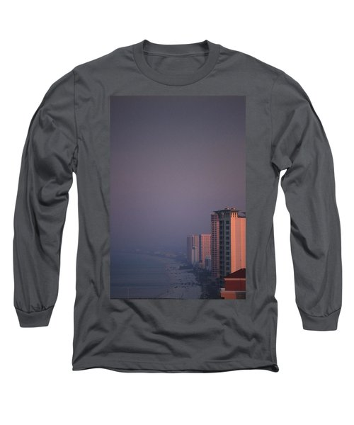 Panama City Beach In The Morning Mist Long Sleeve T-Shirt