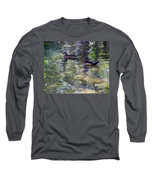 Paddling In A Monet Long Sleeve T-Shirt