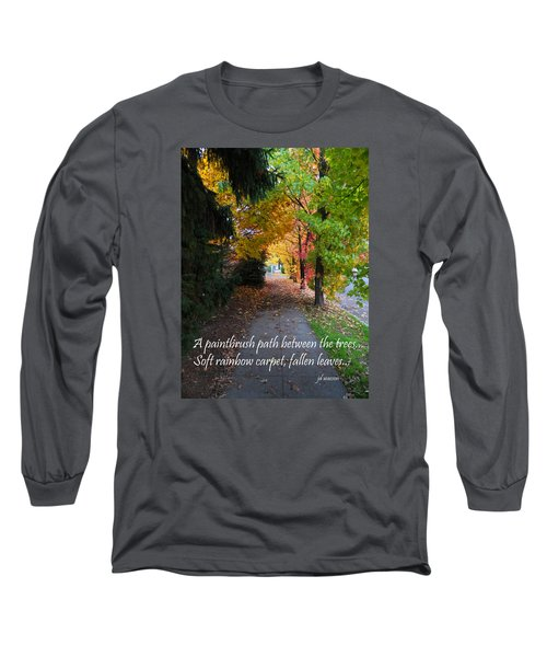 Paintbrush Path Long Sleeve T-Shirt