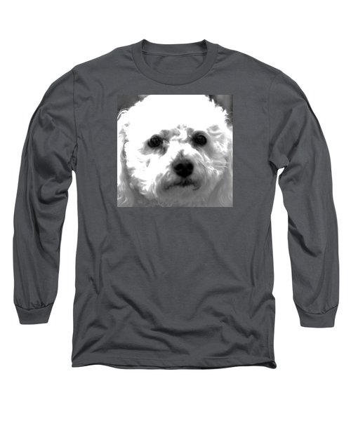 Long Sleeve T-Shirt featuring the photograph Painterly Bichon Frise by Patrice Zinck