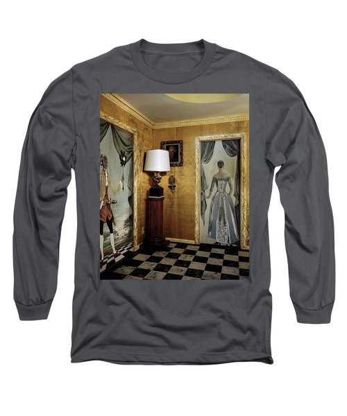 Paintings On The Walls Of Tony Duquette's House Long Sleeve T-Shirt