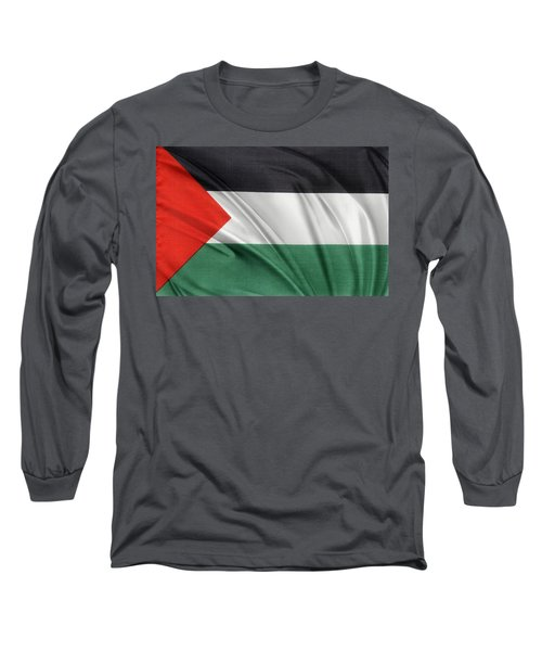Palestine Flag Long Sleeve T-Shirt by Les Cunliffe