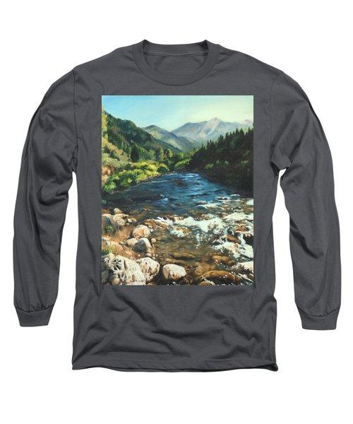 Palisades Creek  Long Sleeve T-Shirt by Lori Brackett
