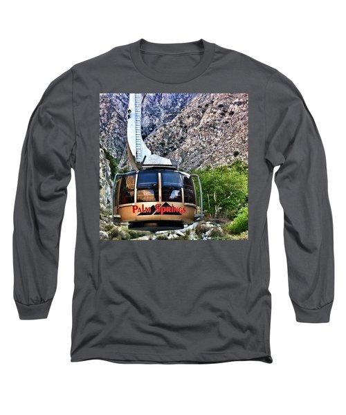 Palm Springs Tram 2 Long Sleeve T-Shirt by Susan Garren