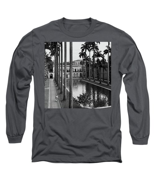 Palm Trees Bordering A Pool Long Sleeve T-Shirt