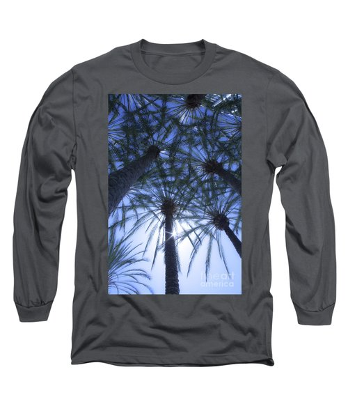 Long Sleeve T-Shirt featuring the photograph Palm Trees In The Sun by Jerry Cowart