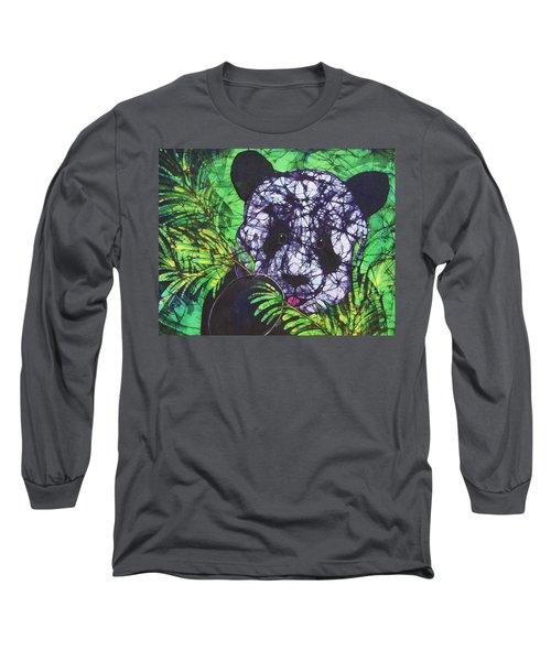 Panda Snack Long Sleeve T-Shirt