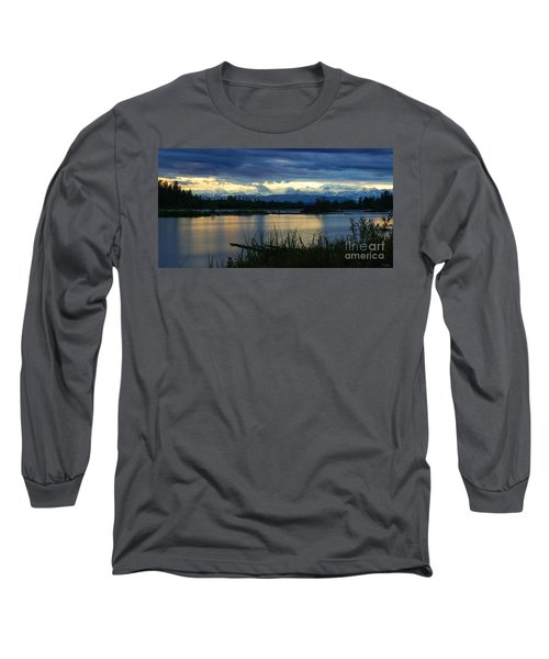 Pano Denali Midnight Sunset Long Sleeve T-Shirt by Jennifer White
