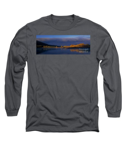 Long Sleeve T-Shirt featuring the photograph Panorama Clearing Storm Oxbow Bend Grand Tetons National Park Wyoming by Dave Welling
