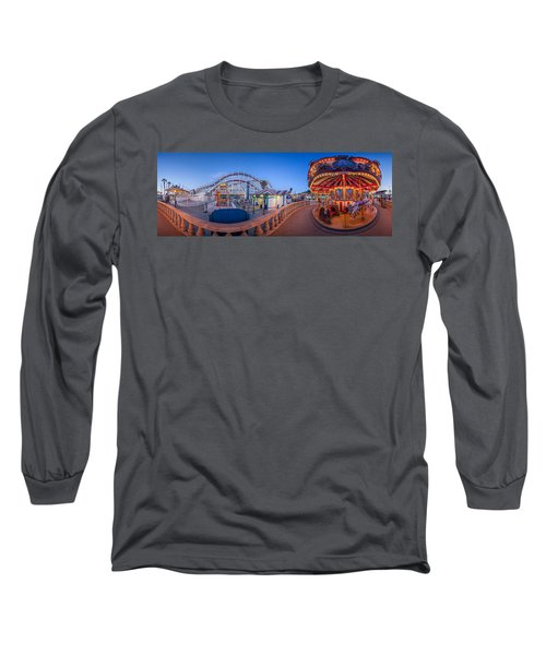 Panorama Giant Dipper Goes 360 Round And Round Long Sleeve T-Shirt