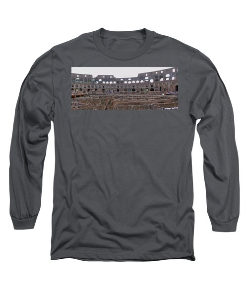 Panoramic View Of The Colosseum Long Sleeve T-Shirt