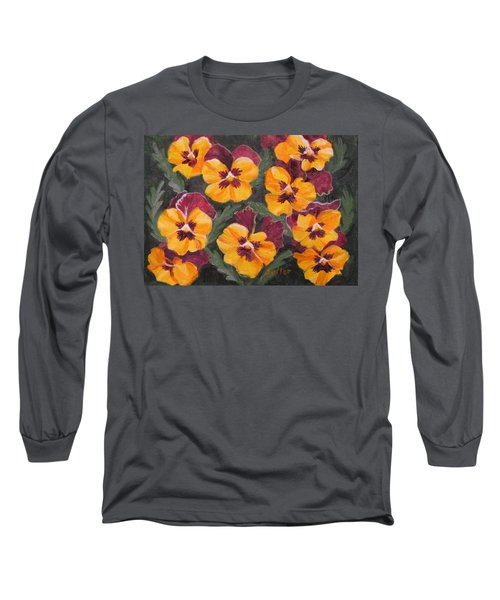 Pansies Are For Thoughts Long Sleeve T-Shirt
