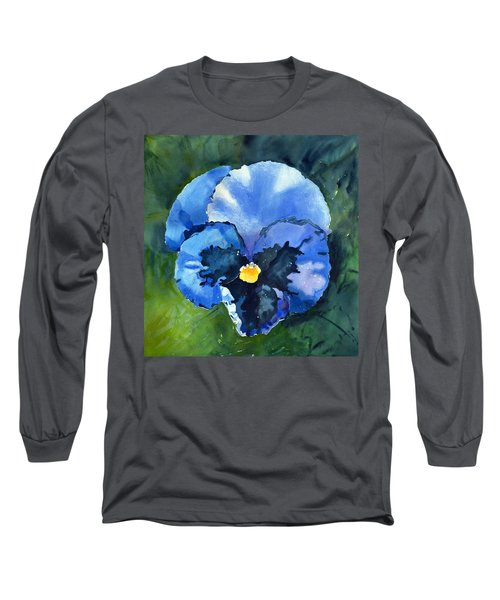 Pansy Blue Long Sleeve T-Shirt