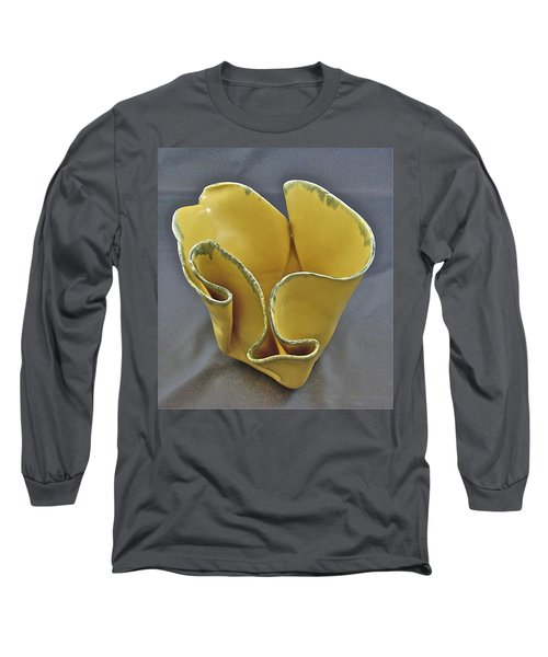 Long Sleeve T-Shirt featuring the sculpture Paper-thin Bowl  09-004 by Mario Perron