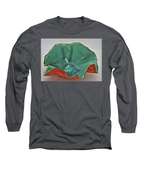 Long Sleeve T-Shirt featuring the sculpture Paper-thin Bowl  09-007 by Mario Perron