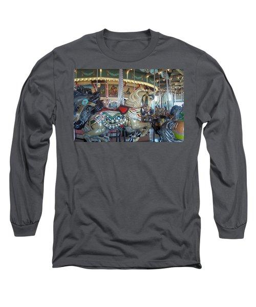 Paragon Carousel Nantasket Beach Long Sleeve T-Shirt