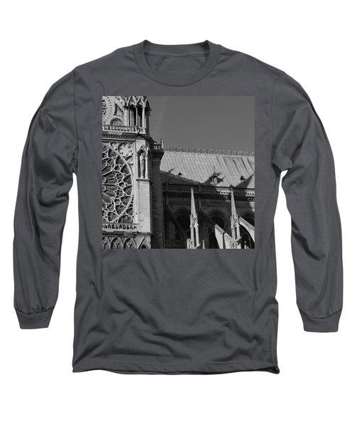 Paris Ornate Building Long Sleeve T-Shirt