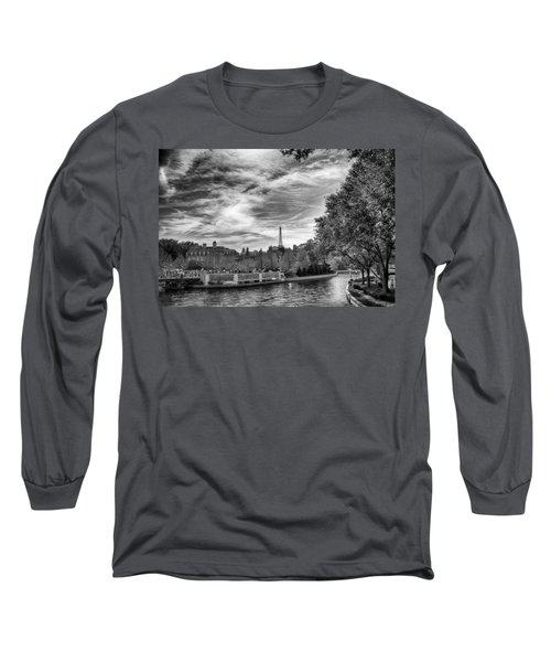 Long Sleeve T-Shirt featuring the photograph Paris by Howard Salmon