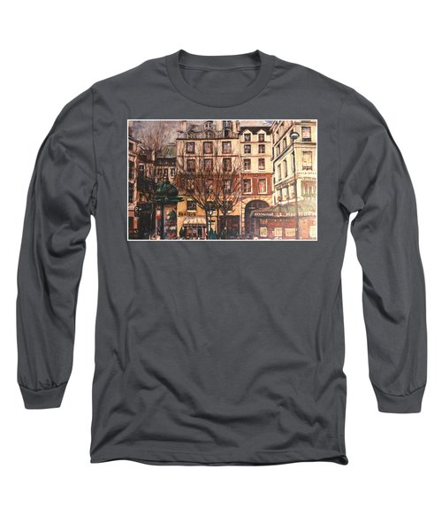 Paris Long Sleeve T-Shirt by Walter Casaravilla