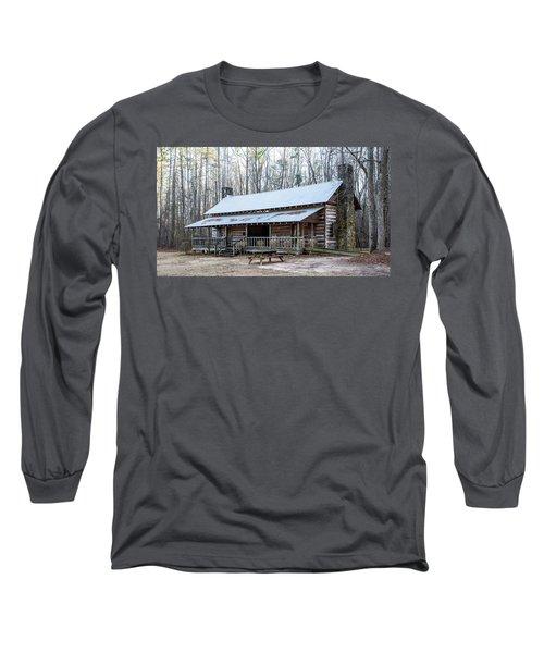 Park Ranger Cabin Long Sleeve T-Shirt by Charles Hite