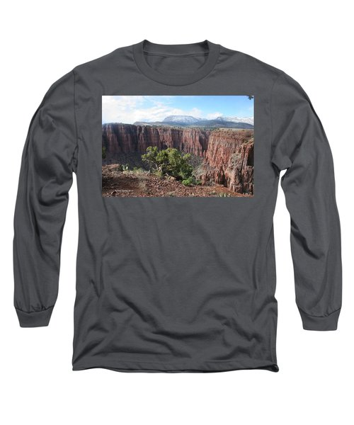 Parker Canyon In The Sierra Ancha Arizona Long Sleeve T-Shirt by Tom Janca