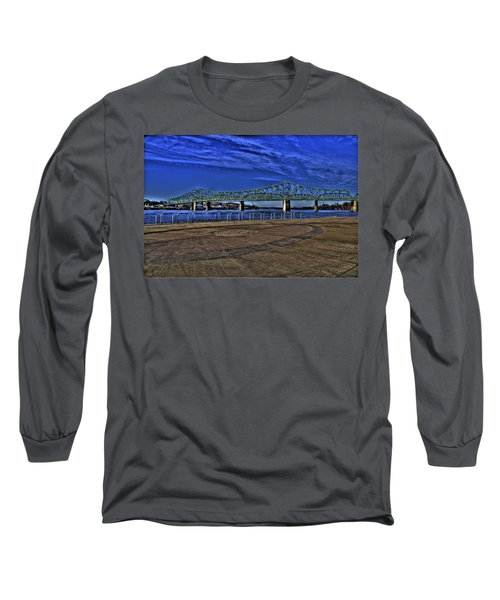 Long Sleeve T-Shirt featuring the photograph Parkersburg Point Park by Jonny D