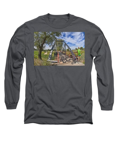 Long Sleeve T-Shirt featuring the photograph Parkville Missouri by Liane Wright