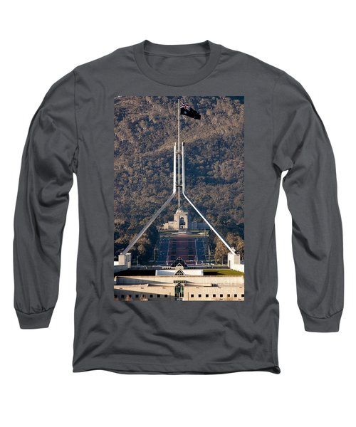Parliament And War Memorial Australia Long Sleeve T-Shirt