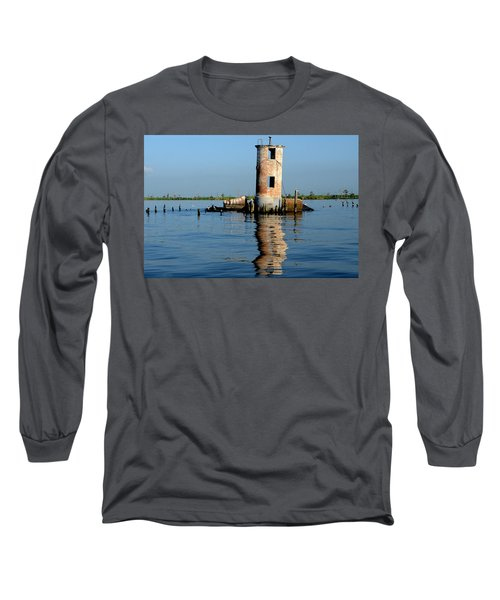 Long Sleeve T-Shirt featuring the photograph Pass Manchac Lighthouse by Charlotte Schafer