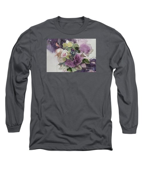Passionate About Purple Long Sleeve T-Shirt by Elizabeth Carr