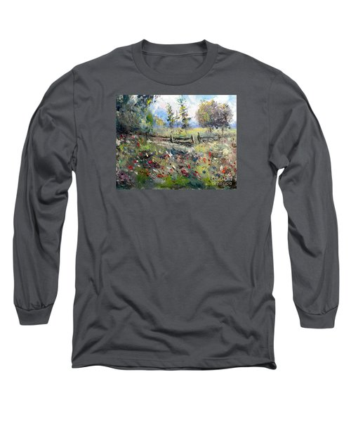 Pasture With Fence Long Sleeve T-Shirt