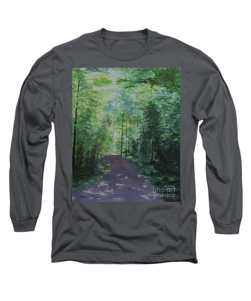 Long Sleeve T-Shirt featuring the painting Path To The River by Martin Howard