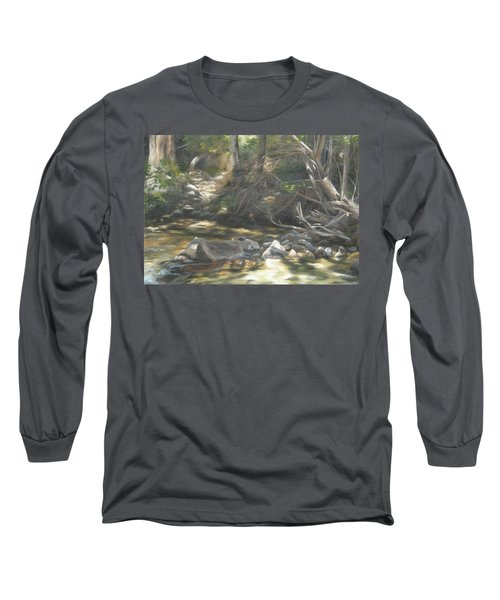 Long Sleeve T-Shirt featuring the painting Peace At Darby by Lori Brackett