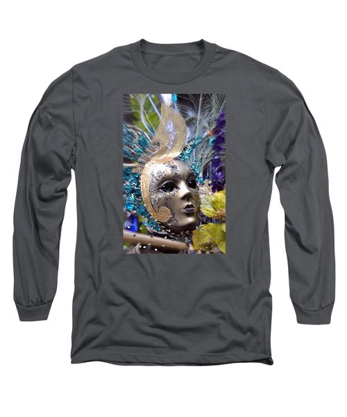 Long Sleeve T-Shirt featuring the photograph Peace In The Mask by Amanda Eberly-Kudamik
