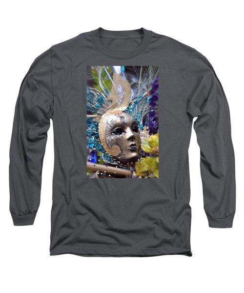 Peace In The Mask Long Sleeve T-Shirt by Amanda Eberly-Kudamik