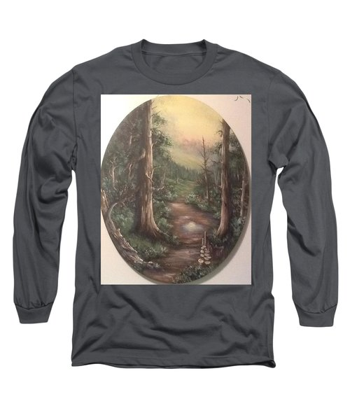 Long Sleeve T-Shirt featuring the painting Peace Time by Megan Walsh