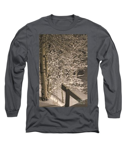 Peaceful Blizzard Long Sleeve T-Shirt by Fiona Kennard