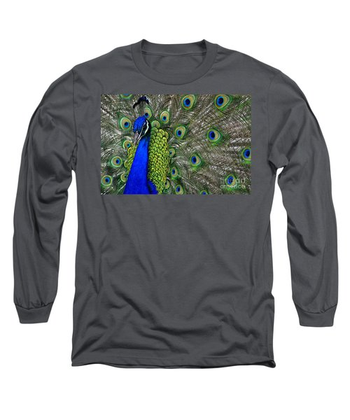 Peacock Head Long Sleeve T-Shirt