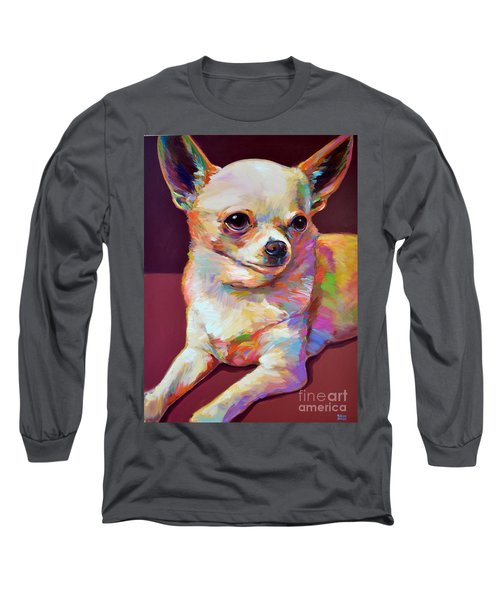 Long Sleeve T-Shirt featuring the painting Pedro by Robert Phelps