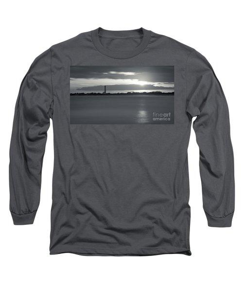Peeking Through The Clouds Bw Long Sleeve T-Shirt