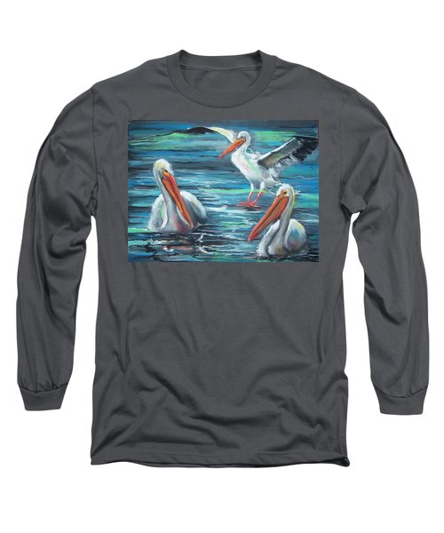 Long Sleeve T-Shirt featuring the pastel Pelican Profile by Peter Suhocke
