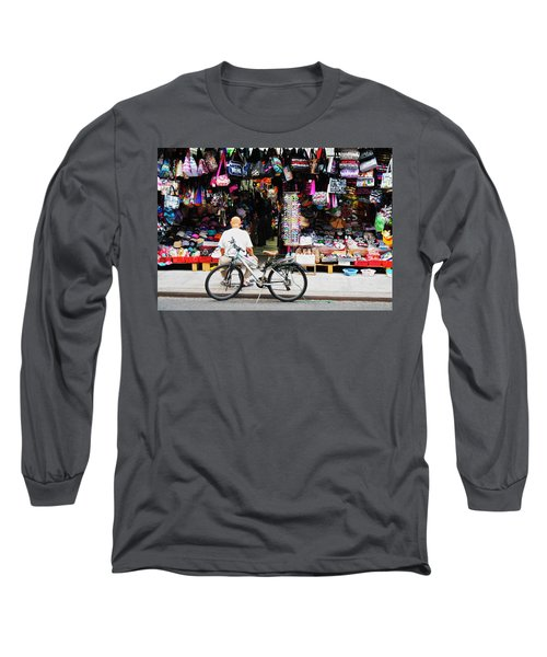 Long Sleeve T-Shirt featuring the photograph Pell St. Chinatown  Nyc by Joan Reese