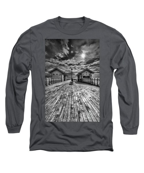Penarth Pier 2 Monochrome Long Sleeve T-Shirt
