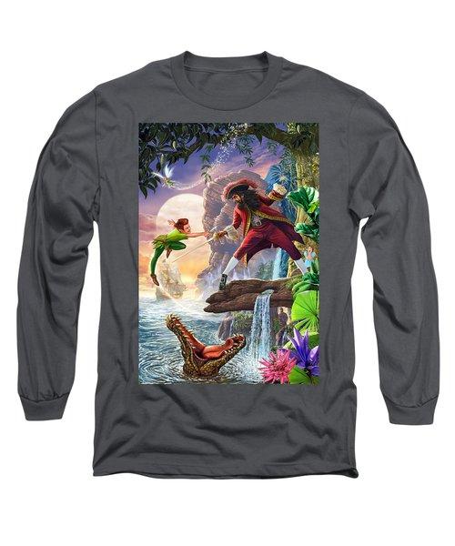 Peter Pan And Captain Hook Long Sleeve T-Shirt