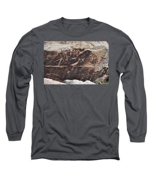 Petroglyph Bird Long Sleeve T-Shirt